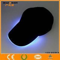 infrared led hat/black hat/metal plate snapback hat