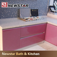 High quality polished pink laminate countertops