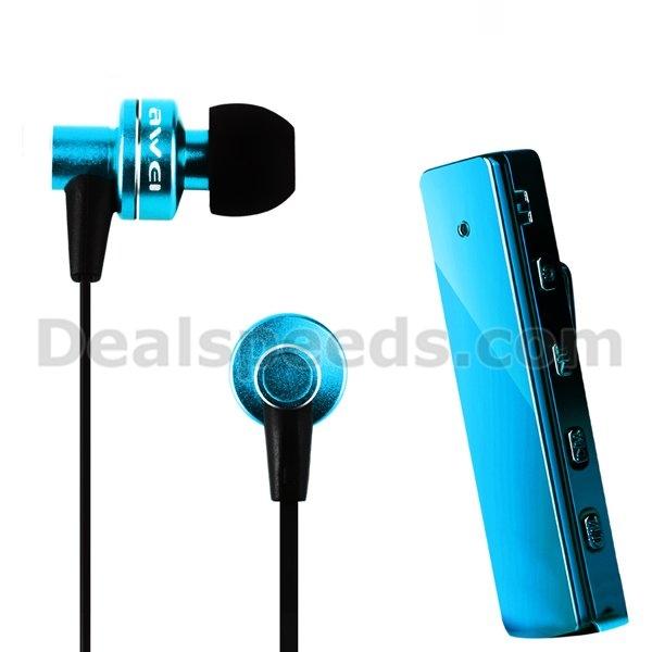 AWEI sans fil In-Ear Bluetooth Music écouteurs écouteurs mains libres avec clip