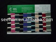 100% poly stripe knit /auto stripe white and blue B01#