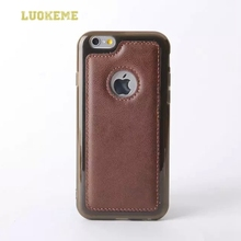luxury custom design pu leather + silicon cell phone case