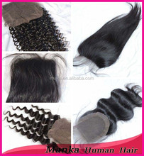 alibaba express wholesale price silk straight 3 part lace closure 8''-24'' is available