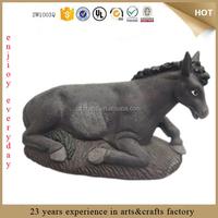 custom 15*7*8.5cm life size resin donkey figurine