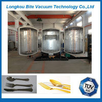 Disposable plastic cutlery vertical double-door high evaporation vacuum metallizing machine/aluminum vacuum metallizing plant