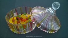 Cheap glass candy jar with lid&colorful decorative candy pot&suger pot