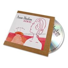 12cm CD DVD replication with CD binder sleeves packaging