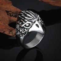 Fashion jewelry newest product owl shaped engagement rings