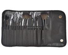 synthetic hair custom logo cosmetic brush set with rolling bag makeup brushes