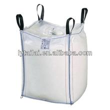White PP Jumbo bag with side-seam loops and label