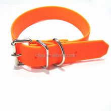 pet products durable pvc webbing dog collars with double ring