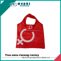 190T nylon Material and Handled Style eco foldable shopping bag