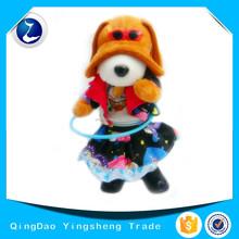 Singing dancing swing plush electrical toy hula-hoop dog