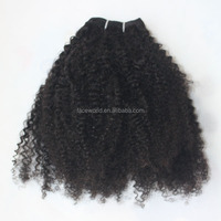 Customized human hair extension most popular brazilian tight curly hair