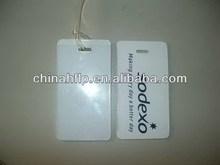 Folded friendly zinc alloy luggage tag