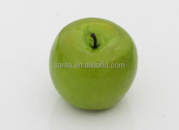 wholesale artificial fruit plastic green apples for home decoration