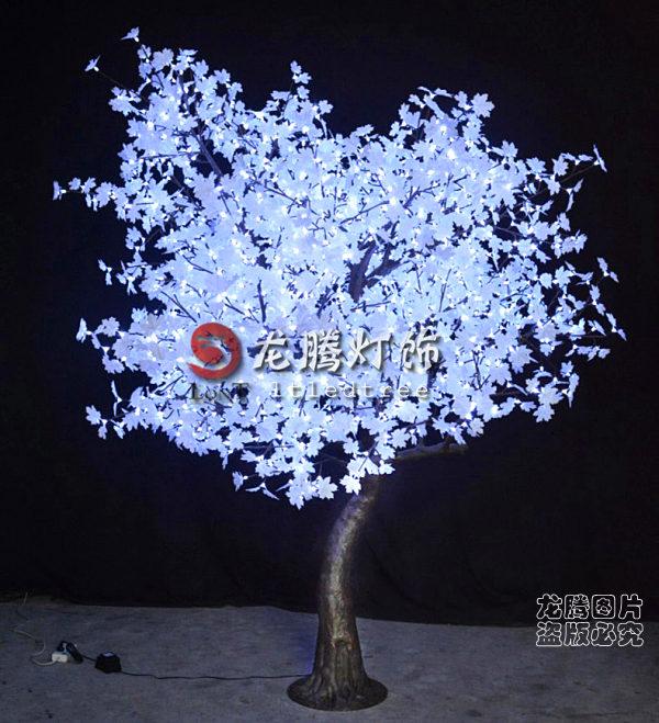 resin trunk white maple leaf outdoor led tree lights buy. Black Bedroom Furniture Sets. Home Design Ideas