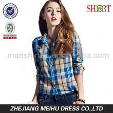 2015 newest style lady plaid casual shirt, lady blouse , women shirt