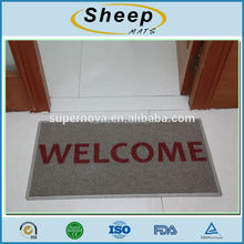 Cheap PVC front door mat with customized logo