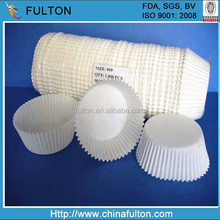 Customised white muffin paper cups, greaseproof baking paper cups supplier in China