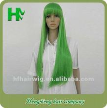 Halloween!!! Long green full lace cosplay wigs full lace cosplay wig