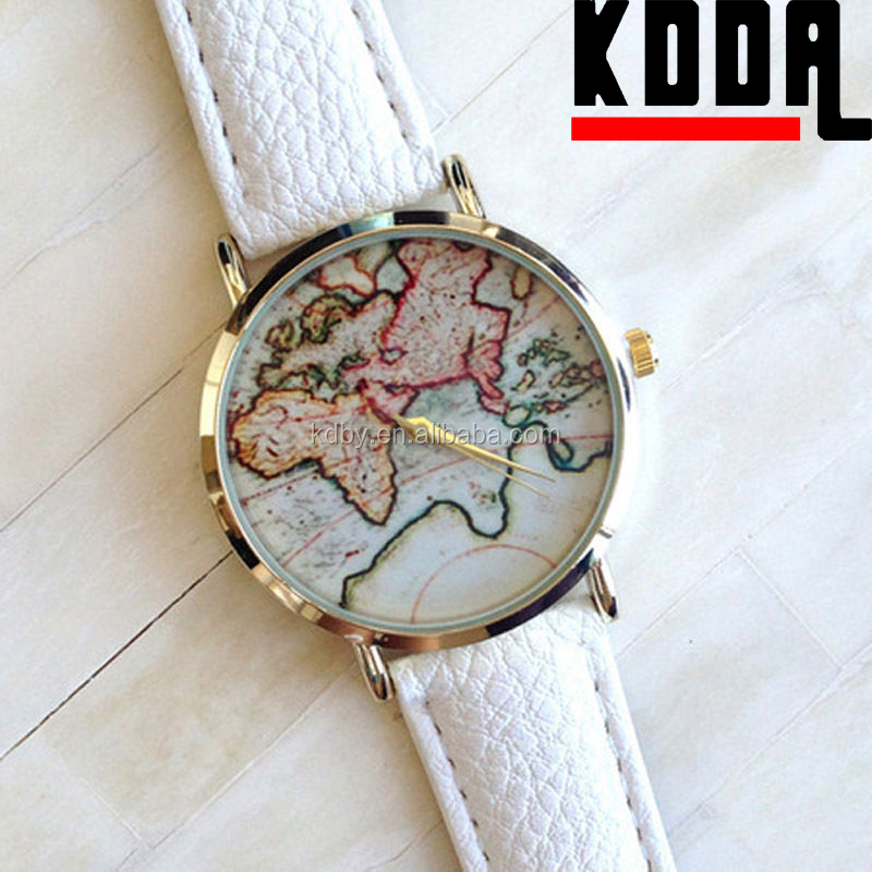 2015 new alibaba vintage world map dial unisex alloy leather quartz 2015 new product vintage world map dail design unisex alloy leather quartz watch 1g gumiabroncs Gallery