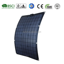New design Amercian market hot sales 50W Semi flexible solar panel