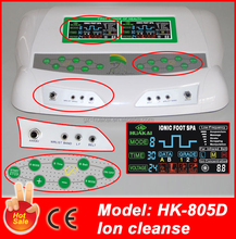 2015 Lot Of 2 Dual CHI Ionic Ion Detox Machine Aqua Spa Ion Cleanse HK-805D For Home Use
