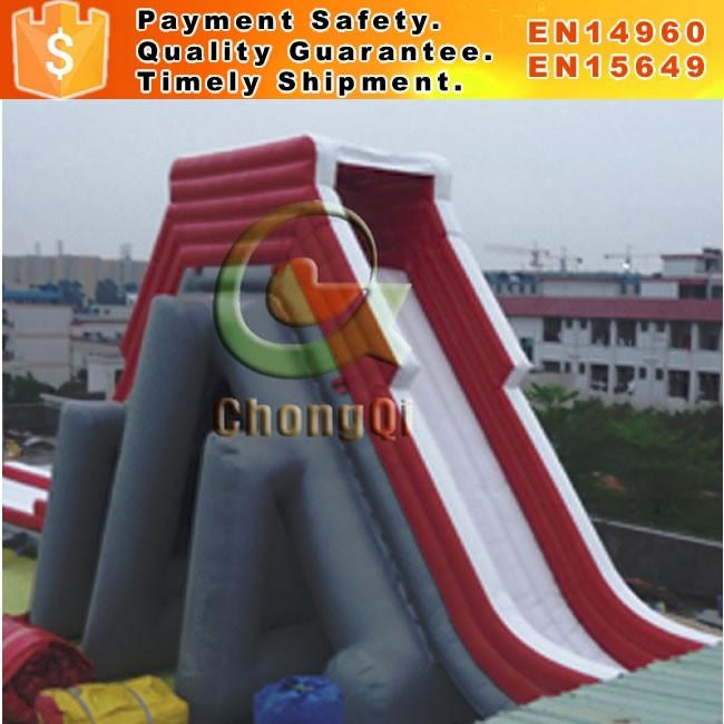 Gigante corrediça de água inflável para venda adulto inflável escorregas de água
