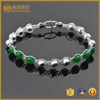 Handmade jewelry agate chain link bracelet made of 100% 925 sterling silver