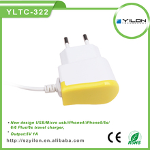 mobile phone accessories ,CE&Rohs 5v1a EU plug wholesale usb wall charger for iphone