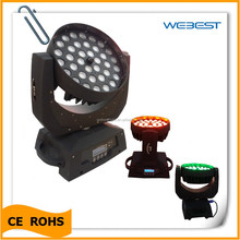 stage equipment led 36*10w rgbw 4in1 led moving head with zoom wash fixture lighting