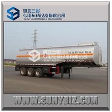 high tensile steel Oil tank truck trailer/ Chemical tanker