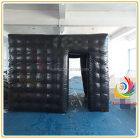 Guangzhou Ruilin customized inflatable cube tent,inflatable PVC advertising cube tent