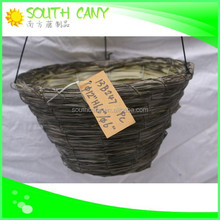 Delicate innovative sugarcane leaves wire hanging baskets wholesale