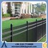 2015 Fashion fence:black color powder coated galvanized ornamental steel fence