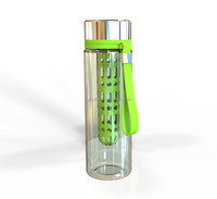 2015 Excellent fruit infuser water bottle with tritan infusion sport bottle