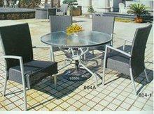 aluminum rattan coffee set/courtyard wicker coffee set KD