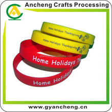top quality high quality printed silicone bracelets for promotional items