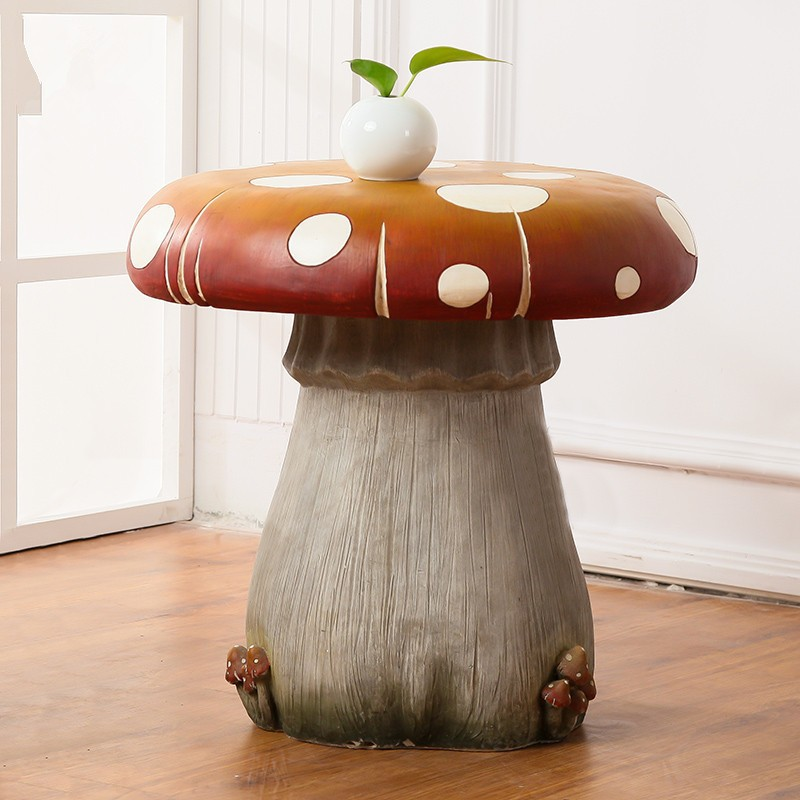 22 5 Inch Children Polyresin Mushroom Garden Table And