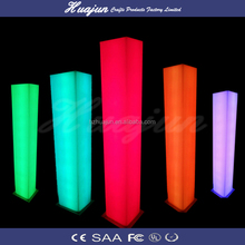 decorative lighted wedding columns