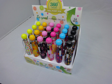 Customized fat bowling plastic barrel promotion ball pen with satisfactory price CH-6192