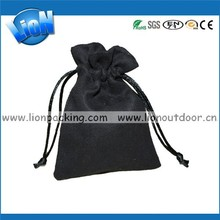 Promotional Suede Fabric Pouch, Drawstring Faux Bag