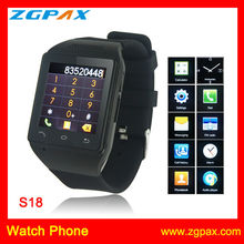 watch phone factory new design S18 mobile watch with capacitive touch Screen