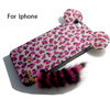 Lovely stylish leopard print cell mobile phone cover for iphone 4s 5 5s 5c