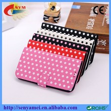 China Wholesale Wave Point Case For iPhone 6 4.7 Flip Cover PU Leather Phone Accessories