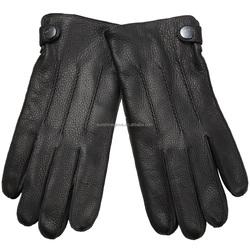 cheap black dress winter motorcycle deerskin gloves