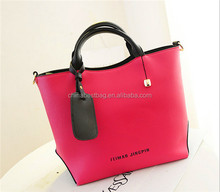 Stylish european fashion leisure women handbag pu leather