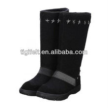 china 2014 nuevo de la moda de fieltro de lana la mitad botas botas de nieve