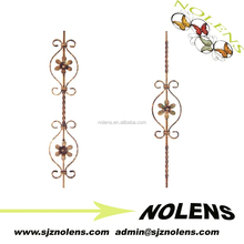 NL821-15 cast iron forged steel wrought iron picket/High quality galvanized cast iron pickets galvanized steel picket fence