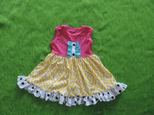 hot sale 0-12 years girls summer adorable pettidress persnickety girls cotton ruffle summer dress girls boutique pattern dresses